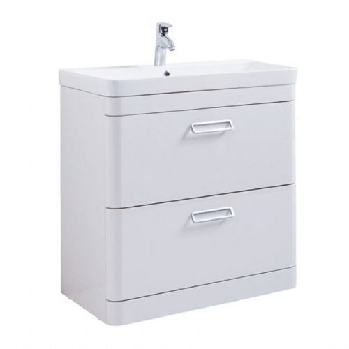Kartell Metro 2-Drawer Wall Mounted Vanity Unit With Basin - 600mm - White